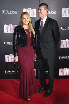 """Mariah Carey is stepping out with her new man! The singer made her red carpet debut with her new beau, Australian billionaire James Packer, at Monday's night's New York premiere of """"The Intern."""" """"They were really cute together!"""" an eyewitness told ET, adding that the couple """"seemed very happy."""" """"James was leading Mariah through the theater room and had his hand on her back. Mariah looked very proud to be there with ..."""