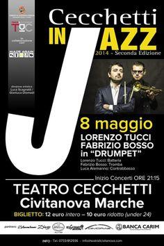 Oggi è la giornata internazionale #Unesco del #JAZZ.CECCHETTI IN JAZZ porta a #CivitanovaMarche i grandi nomi del panorama jazzistico italiano ed internazionale. 8 maggio:Lorenzo TUCCI e Fabrizio BOSSO in #DRUMPET http://urly.it/2ht0
