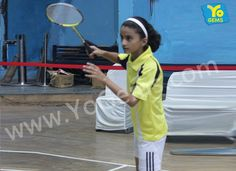 Congratulations YoChamp Kritika Bhatt from Somerville School for winning with 21-11, 21-7 in Girls Singles U13 YoGems Badminton Championship series,Noida
