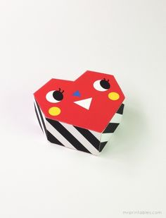 little heart box to print and make / Mr Printables