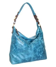 This Denim Blue Havana Nights Leather Hobo by Nino Bossi Handbags is perfect! #zulilyfinds