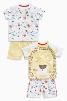 Buy Multi Lion All Over Print Short Pyjamas Two Pack (9mths-8yrs) from the Next UK online shop