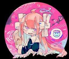 "my original character named ""Tensi-chan"" - MY WORK Japanese Illustration, Graphic Design Illustration, Illustration Art, Cartoon Drawings, Cartoon Art, Cute Drawings, Aesthetic Anime, Aesthetic Art, Hyanna Natsu"