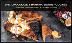 chocolate and banana braaibroodjies