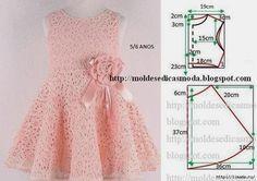 Little girls dress pattern Baby Dress Patterns, Sewing Patterns For Kids, Clothing Patterns, Little Dresses, Little Girl Dresses, Girls Dresses, Summer Dresses, Dress Tutorials, Baby Sewing