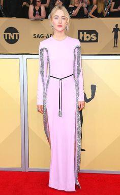 Saoirse Ronan from 2018 SAG Awards Red Carpet Fashion | E! News