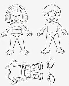 Bloguinho da Vânia: Bonecos com roupa montar
