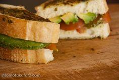 Tomato Avocado Pesto Sandwich