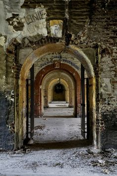 Down the Hall; Fort de la Chartreuse in Liege, Belgium. Built in1817 and closed in 1982. © opacity.us