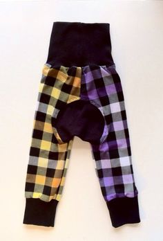 Yellow x Purple Plaid Monkey bum leggings