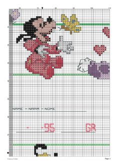 Gallery.ru / Фото #3 - Natalicio 3 - cnekane Cross Stitch Baby, Counted Cross Stitch Patterns, Baby Disney, Disney Mickey, Minnie, Mickey Mouse, Bordados E Cia, Mickey And Friends, Some Ideas