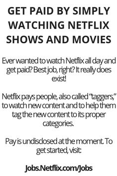 Get Paid By Simply Watching Netflix Shows And Movies – Wisdom Lives Here - Money Ways To Earn Money, Earn Money From Home, Earn Money Online, Online Jobs, Money Tips, Way To Make Money, Money Plan, Money Hacks, Online Income