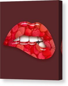 Lips Canvas Print featuring the mixed media Heart Of Hearts by Marvin Blaine
