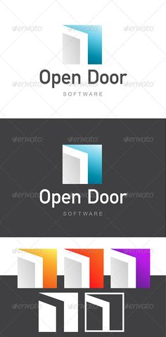 Open Door Software Development / Architecture Logo by stehan Professional & Stylish Logo Template for aWEB , IT, Software / Web Development & Design related Identity. Perhaps even lends itsel