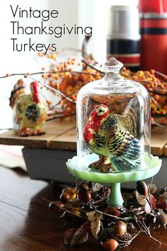 Vintage Thanksgiving Turkey Decor