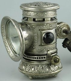 An early bicycle lamp - featured on this blog: http://jimlangley.blogspot.com/2010_11_01_archive.html