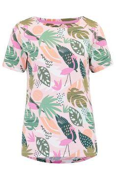 Cara Miami Flamingo Top – Sugarhill Brighton Flamingo Top, Flamingo Print, Usa Store, New Shape, Miami, Organic Cotton, Men Casual, Tees, Brighton