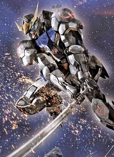 Gundam: Iron Blooded Orphans Fan-Arts - Image Gallery Gundam Astaroth Image via Ippei Youbu Gundam Wing, Gundam Art, Gundam Astaroth, Power Rangers, Barbatos Lupus, Aliens, Cyberpunk, Blood Orphans, Gundam Iron Blooded Orphans