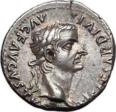 TIBERIUS 14 AD Jesus Christ BIBLICAL RENDER CAESAR Ancient Silver Roman Coin