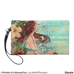 J Wristlet of a Mermaid by the Sea