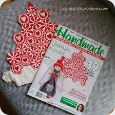 My hexie Christmas tree and the project - published in Handmade Magazine - and it's on the cover.