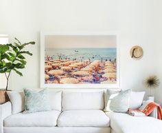 chic and clean living room // Gray Malin's La Dolce Vita Collectin