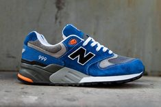 """New Balance 999 """"Knicks"""" - Sneakers. Nb Sneakers, New Balance Sneakers, New Balance Shoes, Running Sneakers, Running Shoes For Men, Sneakers Fashion, Mens Running, Lacoste Sneakers, Popular Sneakers"""