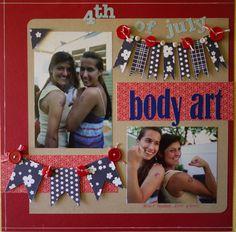 4th of July Body Art - Scrapbook.com