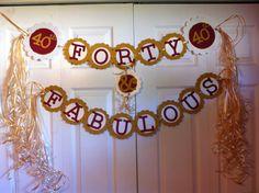 40th Birthday Decorations Celebrating Forty