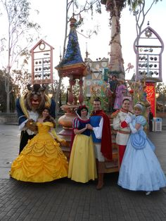 True Love Couples <3 Beast, Belle, Snow, Ferdinand, Prince C, Cinderella, Flynn & Rapunzel