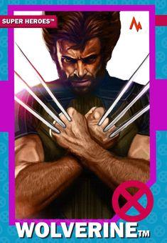 Wolverine X men trading card tan art Marvel Comic Universe, Comics Universe, Marvel Dc, Marvel Comics, Spiderman Vs Superman, Image Painting, Wolverine, X Men, Trading Cards