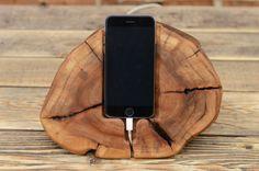 Holz-iPhone-dock Dockingstation Samsung Galaxy von WoodRestart
