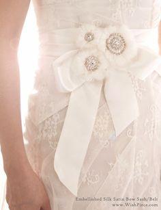 Sash Belt by Wishpiece Wedding Sash, Bridal Sash, Wedding Dresses, When I Get Married, I Got Married, Wedding Photography Inspiration, Wedding Inspiration, Wedding Ideas, Sash Belts