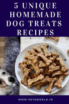 5 Unique Homemade Dog Treats' Recipes  #petsworld #dogs #dogsofinstagram  #dog #dogtraining #dogtreats #dogmom #food #foodphotography #recipes #cute #cuteanimals #puppy #puppies #TrainingDogsToGetAlong Homade Dog Treats, Homemade Dog Food, Pet Treats, Dog Treat Recipes, Dog Food Recipes, Dog Diet, Can Dogs Eat, Puppy Food, Great Recipes
