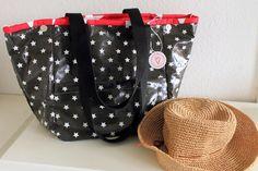 elbmarie: Sommerzeit ist BEACHBOY-Zeit.... beachbag, oilcloth,Wachstuch,pattern, Strandtasche,Markttasche, BEACHBOY,