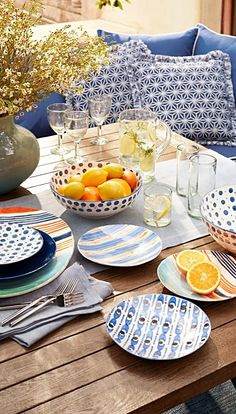 Drawing inspiration from the picturesque coastal towns and fishing villages of Italy, this handmade and painted collection features an array of unique patterns and a coordinating color palette.