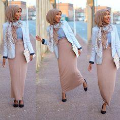 Basma k style Modest Outfits, Modest Fashion, Unique Fashion, Hijab Fashion, Fashion Outfits, Fashion Styles, Fashion Clothes, Women's Fashion, Muslim Women Fashion