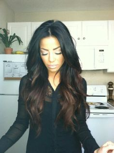 Ombre♥ #ombre #hair #black #brown