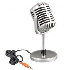 Microfone Retrô de Rádio - Cliquish