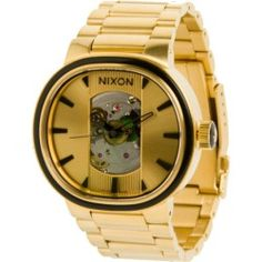 Nixon Capital Automatic Watch - Mens All Gold/Black, One Size $699.95