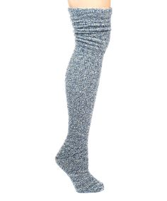 Loving this Glacier Blizzard Slouch Over-the-Knee Socks on #zulily! #zulilyfinds