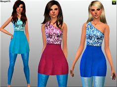 Nice and Casual dress by Margie at Sims Addictions via Sims 4 Updates