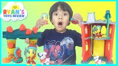 nice PLAY DOH TOWN FIREHOUSE Toys for kids Playdough video Ryan ToysReview