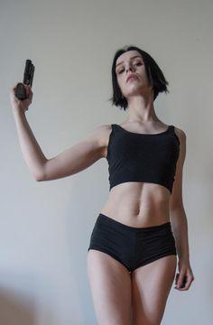 Gun Pose Reference - 15 by SilenceInSilver on DeviantArt