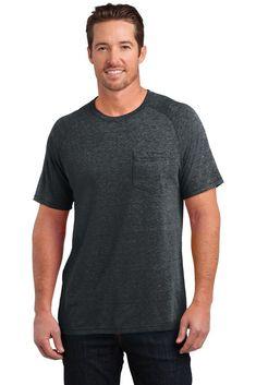ad8d3563 District Made T Shirt DM340 Mens Tri-Blend Pocket Tee NEW@ebay @pinterest