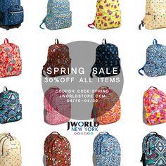 Spring Sale at www.jworldstore.com 30% off ALL ITEMS util 4/30/2015 Coupon code: spring #spring #sale #shop