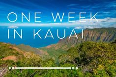 one week in kauai itinerary
