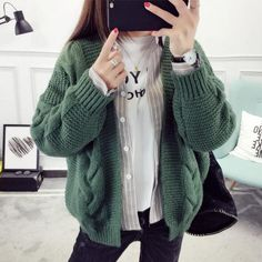 2017 Women Sweater Tops Vintage Ladies Cardigans White Pull Femme Winter Casual Sweater. Click visit to buy #WomenCardigan
