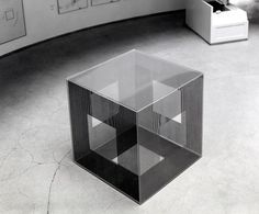 """""""Cube with Ambiguous Space"""" by Jesús Rafael Soto (1974)"""
