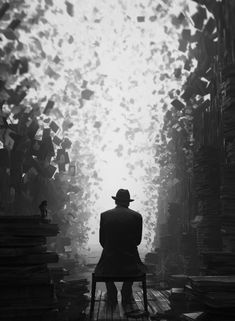 All those books he read became his world.